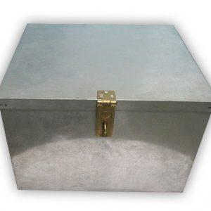 galvanized Storage Box with lock and handles
