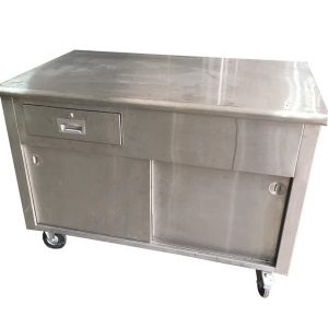 2-door Stainless Steel Work station with drawer