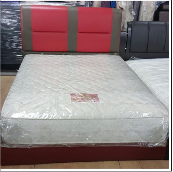 Queen size with divan and mattress pj f 001 kaki lelong for Queen size divan