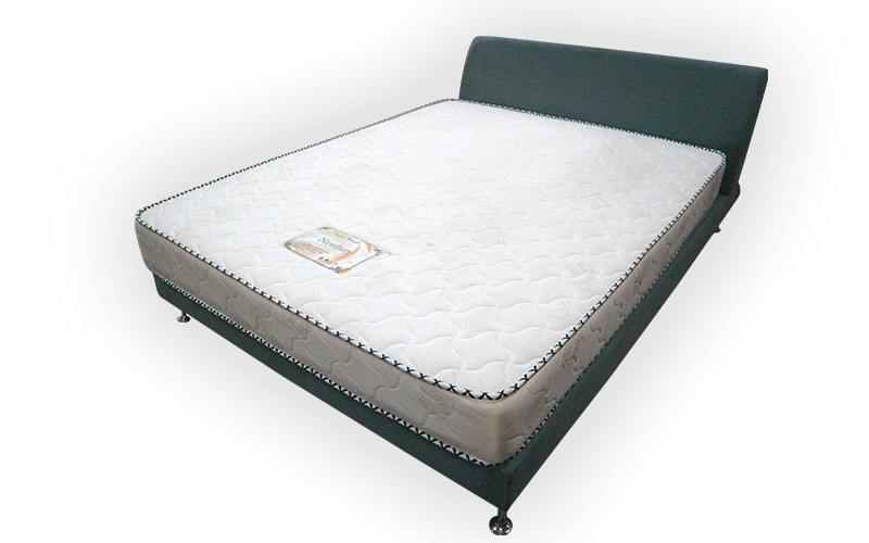 Queen size bed set with mattress divan head board kaki for Divan and mattress set