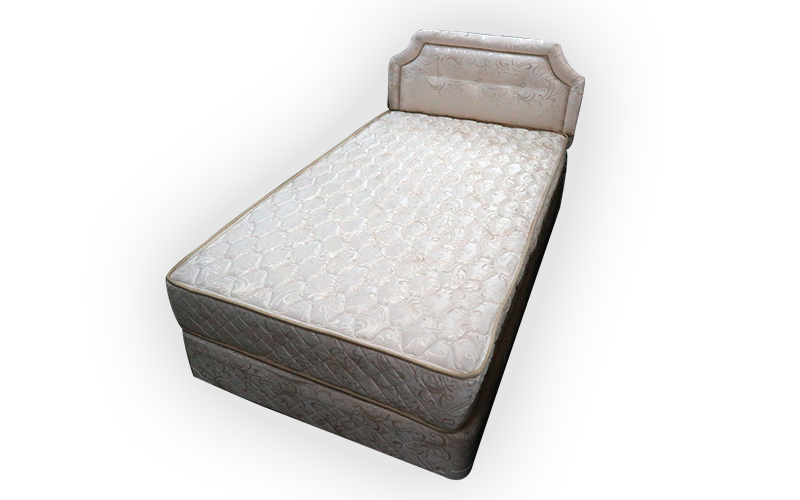 Single Bed With Divan Mattress And Head Board Kaki