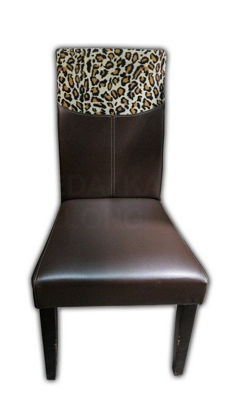 Dining Chair With Leopard Print Kaki Lelong Everything