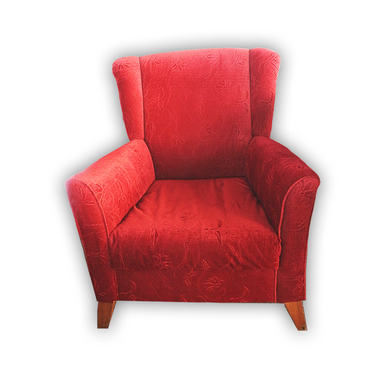 Single seat suede sofa chair kaki lelong everything for Suede furniture