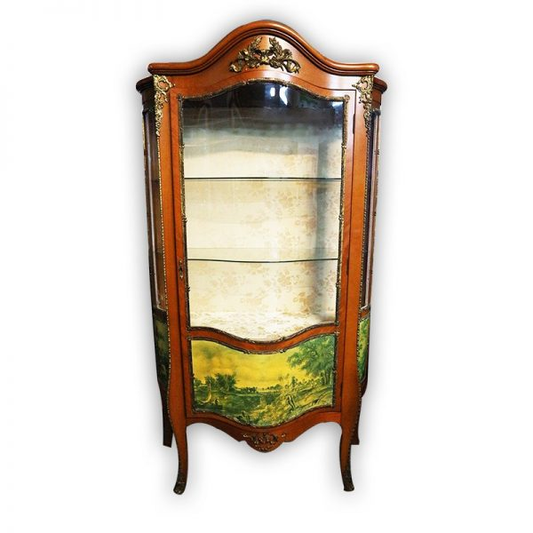 DaVinci Antique French Style Armoire with Glass Doors