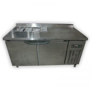 Commercial Table Fridge with salad prep