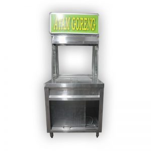 Stainless Steel Hawker Stall with Display