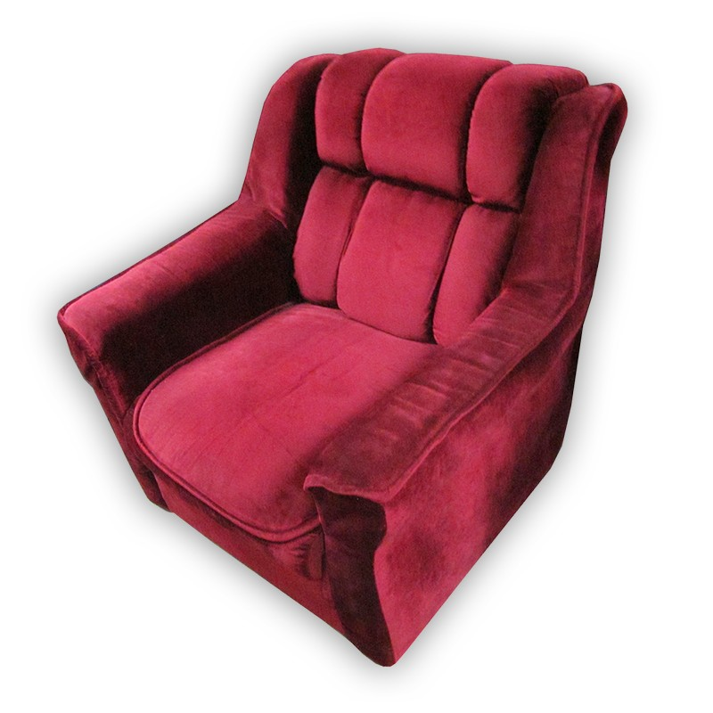 Single Sofa Chair Sale: Red Velvet Single Sofa Chair