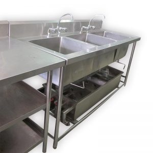 3 Compartment Stainless Steel Commercial Sink