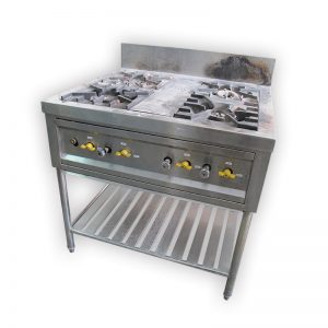 4-burner Commercial Stove