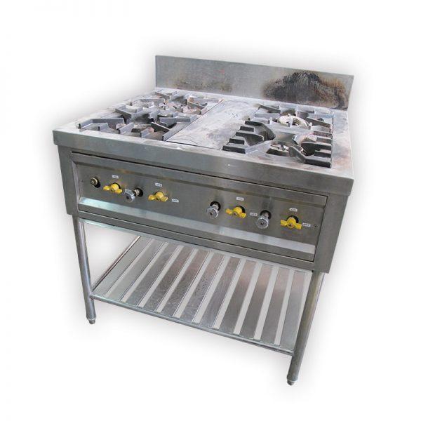 4-burner Commercial Stove