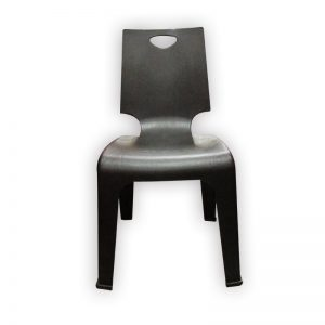 Black Plastic Stackable Chair