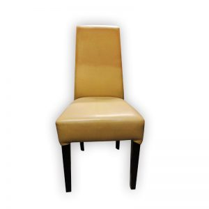 Beige PU Dining Chair