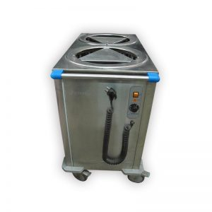 Edesa 920mm Two Tube Heated Mobile Plate Dispenser