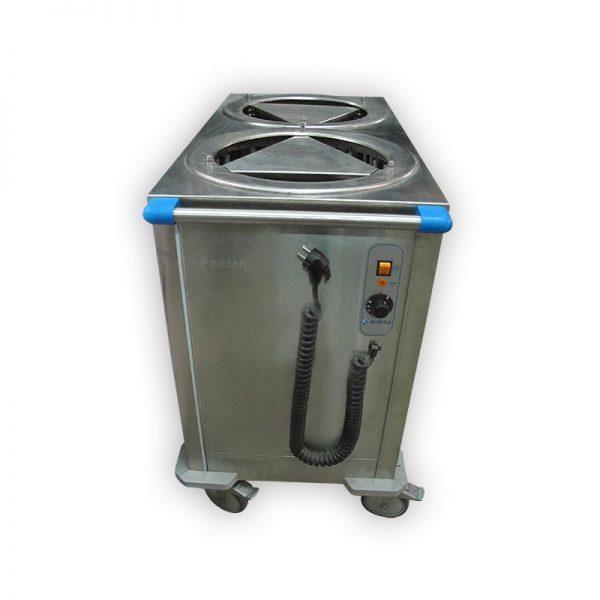 Edesa 920mm Two Tube Heated Mobile Plate Dispenser