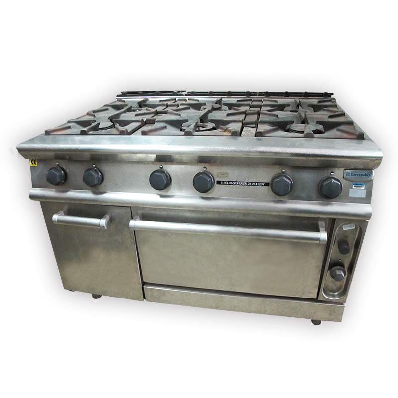Electrolux 6 Burner Gas Stove With Oven Kaki Lelong Everything New And Second Hand