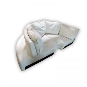 C-shaped Leather Sofa