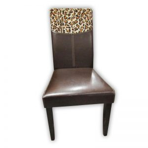 Dining Chair with Leopard print