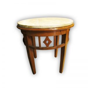 Wooden Site Table with Marble Top