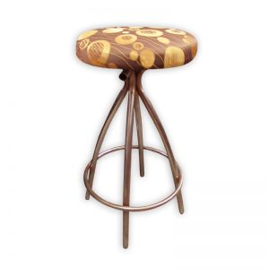 Round Fabric Bar Stool