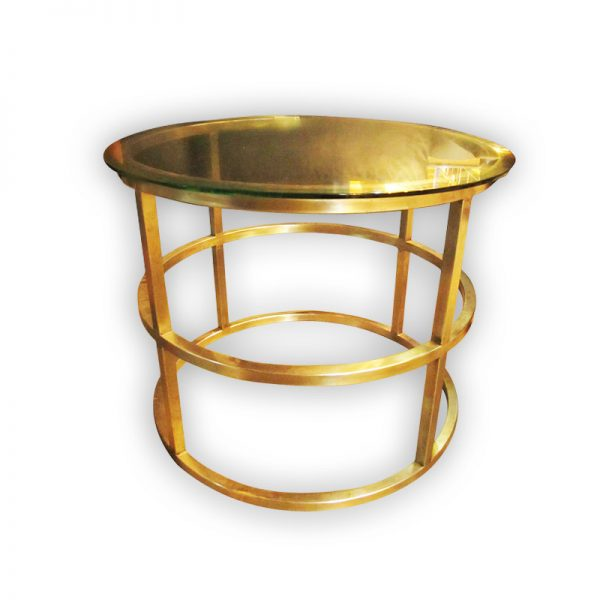 Golden Coffee Table with Glass top