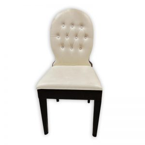White Cushioned Dining Chair