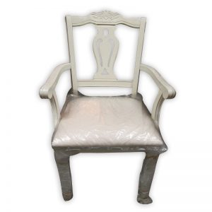 White Rubber wood Vietnam Chair
