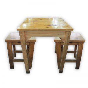 Wooden Outdoor Kopitiam Dining Set