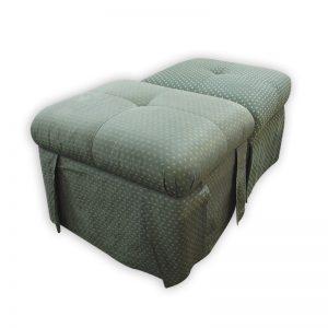 Green Fabric Stool