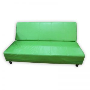 Green PU Sofa Bed