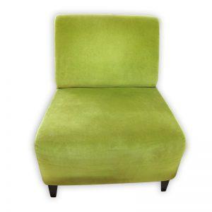Velvet Green Single Sofa Chair