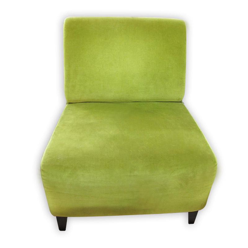 velvet green single sofa chair kaki lelong everything second hand