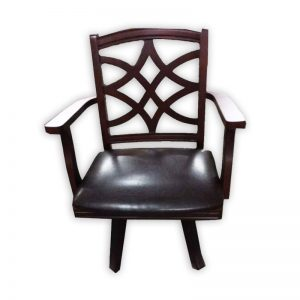 Rubber wood Vietnam Chair with Swirl