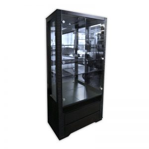 Display Cabinet with Glass doors and Mirrored Backpanel