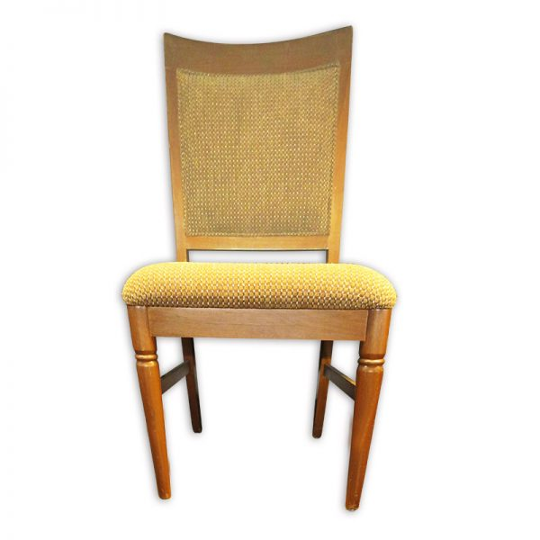 Fabric Cushioned Wooden Chair