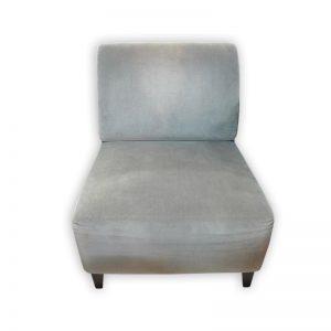 Velvet Grey Single Sofa Chair