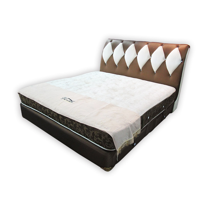 Kingkoil king size mattress divan and headrest kaki for King size divan bed sale