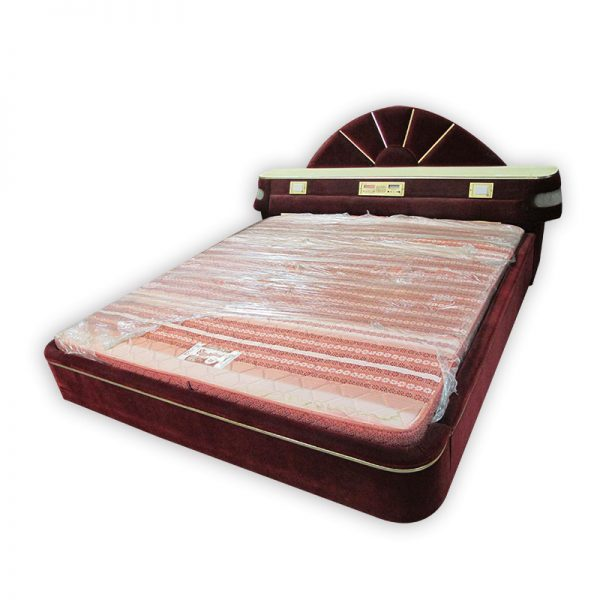 Retro King-size Mattress, Divan and Headrest with Radio and Lights
