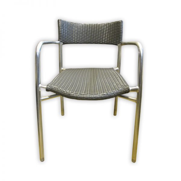 Rattan look Restaurant Chair with metal frame.