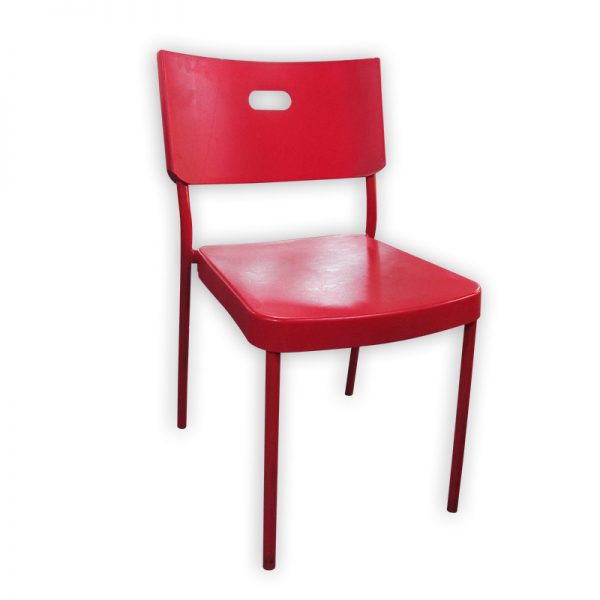 Plastic Restaurant Chair with Metal Frame