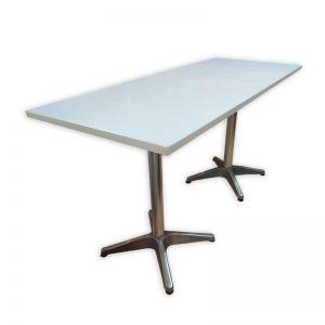 Long White Restaurant Table