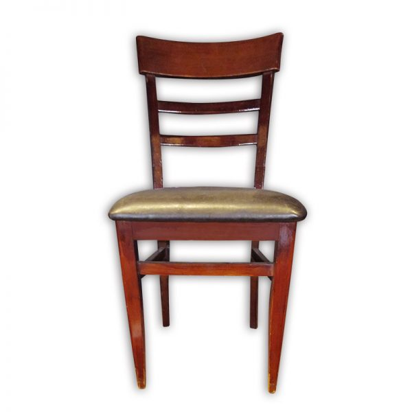 Wooden PU Cushioned Dining Chair
