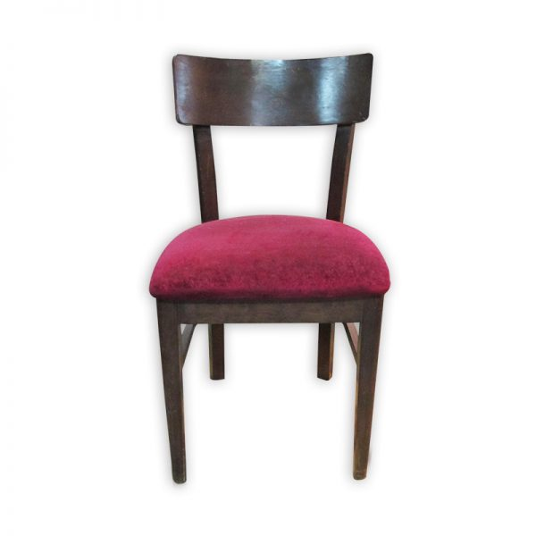 Wooden red Cushioned Dining Chair