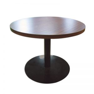 Round Wooden Coffee Table with Metal Leg Ø60cm