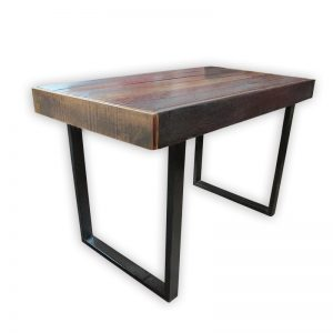 Solid Wooden Outdoor Table with Metal Frame