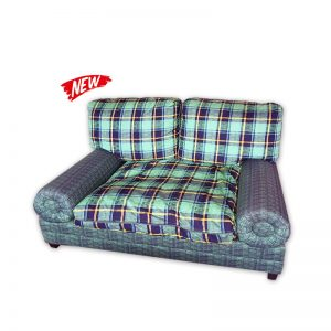 Rattan 2-seat Fabric Couch