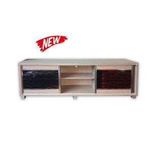 Modern TV Cabinet with Glass sliding doors