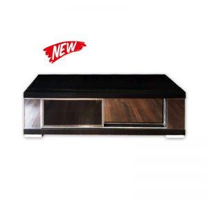 Dark TV Cabinet with Glass sliding doors