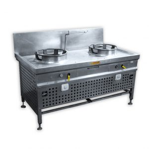 Stainless Steel Stove With 2 High Pressure Burners