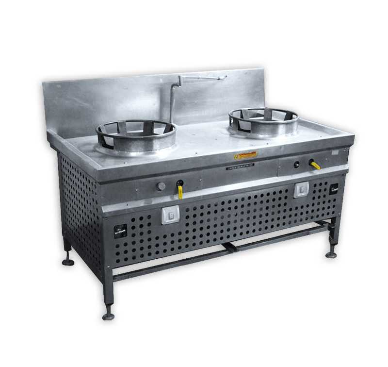 Stainless Steel Stove With 2 High