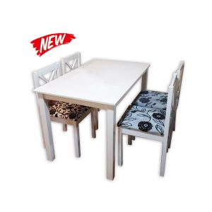 White Wooden Dining Set
